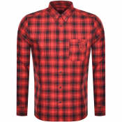 Product Image for HUGO Ermann Long Sleeved Shirt Red
