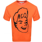 Product Image for MCQ Alexander McQueen Logo T Shirt Orange