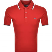 Product Image for Vivienne Westwood Short Sleeve Polo T Shirt Red