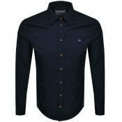 Product Image for Vivienne Westwood Long Sleeved Poplin Shirt Navy