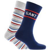 Product Image for Gant Two Pack Socks Gift Set Grey