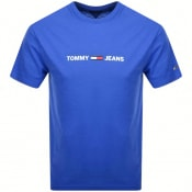 Product Image for Tommy Jeans Logo T Shirt Blue