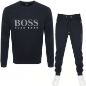 Product Image for BOSS Bodywear Crew Neck Tracksuit Navy