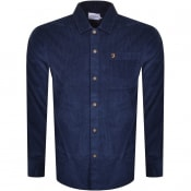 Product Image for Farah Vintage Neukoln Cord Long Sleeve Shirt Navy