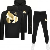 Product Image for Money Max Gold Sig Ape Hooded Tracksuit Black