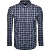Product Image for Gant Heather Gingham Check Long Sleeved Shirt Blue