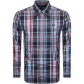 Product Image for Fred Perry Tartan Long Sleeved Shirt Burgundy