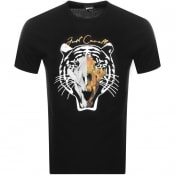 Product Image for Cavalli Class Crew Neck Logo T Shirt Black