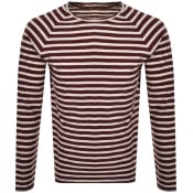 Product Image for Nudie Jeans Orvar Striped T Shirt Burgundy
