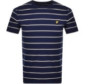 Product Image for Lyle And Scott Stripe Crew Neck T Shirt Navy