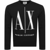 Product Image for Armani Exchange Crew Neck Logo Sweatshirt Black