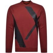 Product Image for Armani Exchange Crew Neck Logo Sweatshirt Red
