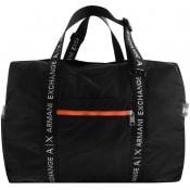 Product Image for Armani Exchange Logo Holdall Bag Black