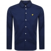 Product Image for Lyle And Scott Slim Fit Long Sleeve Shirt Navy