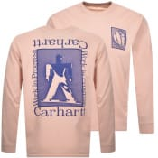 Product Image for Carhartt Foundation Long Sleeved T Shirt Pink