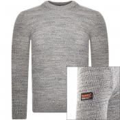 Product Image for Superdry Keystone Crew Neck Knit Jumper Grey