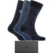 Product Image for Pretty Green 3 Pack Socks Gift Set Navy