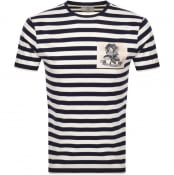 Product Image for Kent And Curwen Shaw Breton T Shirt Navy