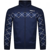 Product Image for adidas Originals Argyle Full Zip Track Top Navy