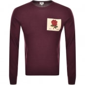 Product Image for Kent And Curwen Fleet Knit Jumper Burgundy