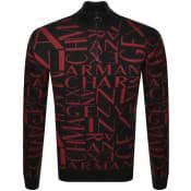 Product Image for Armani Exchange Half Zip Knit Jumper Black