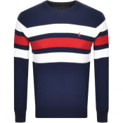 Product Image for Ralph Lauren Crew Neck Waffle Knit Jumper Navy