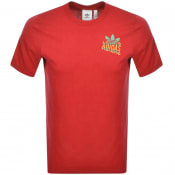 Product Image for adidas Originals Multi Fade Logo T Shirt Red