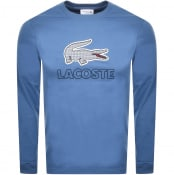 Product Image for Lacoste Long Sleeved Logo T Shirt Blue