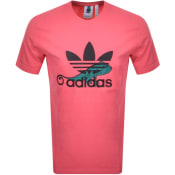 Product Image for adidas Originals Chameleon Trefoil T Shirt Pink
