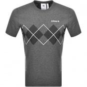 Product Image for adidas Originals Argyle Logo T Shirt Grey