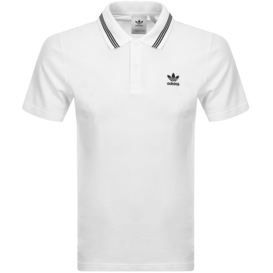 white adidas polo shirt