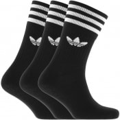 Product Image for adidas Originals Three Pack Mid Crew Socks Black