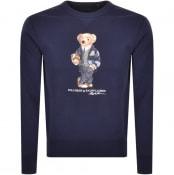 Product Image for Ralph Lauren Crew Neck Bear Sweatshirt Navy