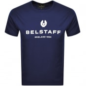 Product Image for Belstaff 1924 Logo T Shirt Navy