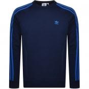 Product Image for adidas Originals Three Stripes Sweatshirt Navy