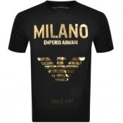 Product Image for Emporio Armani Milano Crew Neck Logo T Shirt Black