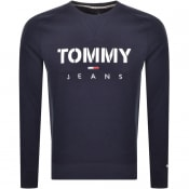 Product Image for Tommy Jeans Logo Sweatshirt Navy