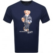 Product Image for Ralph Lauren Crew Neck Bear T Shirt Navy