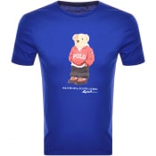 Product Image for Ralph Lauren Crew Neck Bear T Shirt Blue