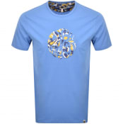Product Image for Pretty Green Applique Paisley Logo T Shirt Blue