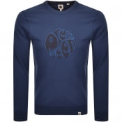 Product Image for Pretty Green Applique Crew Neck Sweatshirt Navy