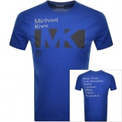 Product Image for Michael Kors Crew Neck Logo T Shirt Blue