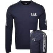 Product Image for EA7 Emporio Armani Crew Neck Logo Sweatshirt Navy