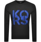 Product Image for Michael Kors Crew Neck Logo Sweatshirt Black