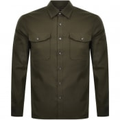 Product Image for Michael Kors Slim Fit Long Sleeved Shirt Green