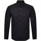 Product Image for Michael Kors Logo Long Sleeved Shirt Black