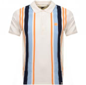 Product Image for Pretty Green Engineered Stripe Polo T Shirt Cream