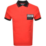 Product Image for Versace Jeans Couture Short Sleeve Polo Shirt Red