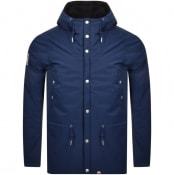 Product Image for Pretty Green Melange Hooded Jacket Navy