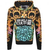 Product Image for Versace Jeans Couture Logo Pullover Hoodie Black